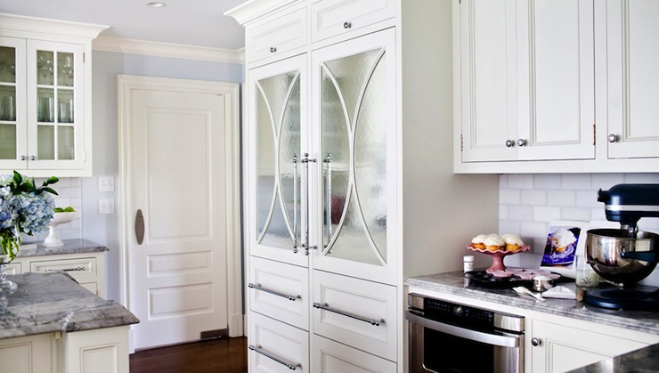 Mirrored Refrigerator Doors & Mirrored Refrigerator Doors - Transitional - kitchen - Morgan ...