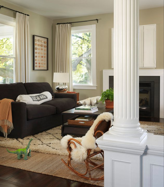 Khaki Paint Color - Contemporary - living room - C2 Vex - Kate Jackson Design