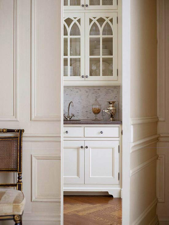 hidden butler u0026 39 s pantry - traditional - kitchen