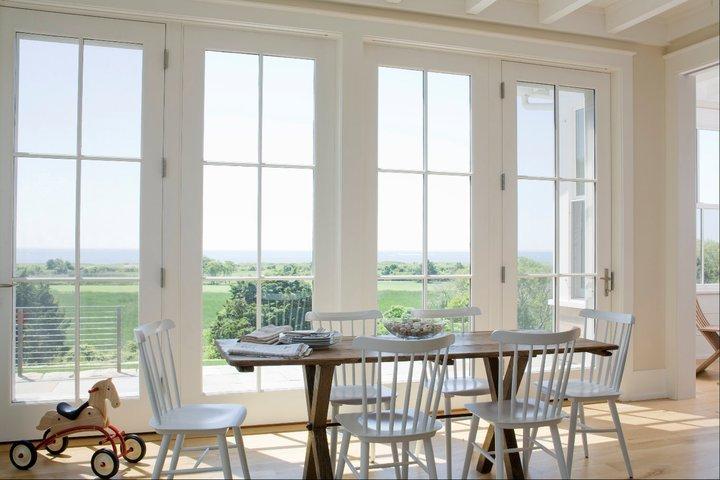 rattan dining chairs cottage dining room coastal living. Black Bedroom Furniture Sets. Home Design Ideas