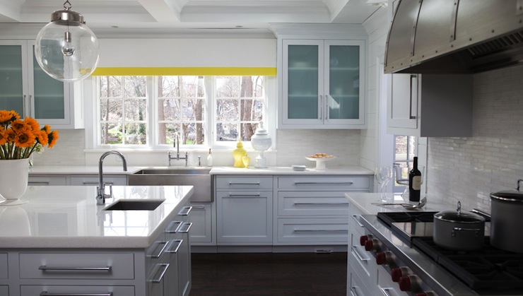 Kitchen With Yellow Accents Contemporary Kitchen