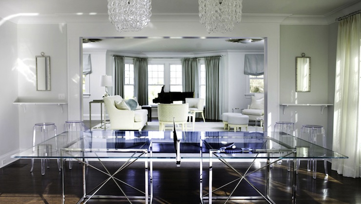 Modern Ping Pong Table Contemporary Media Room Morgan