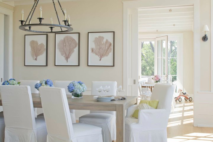 Coastal Dining Room - Transitional - dining room - Benjamin ...