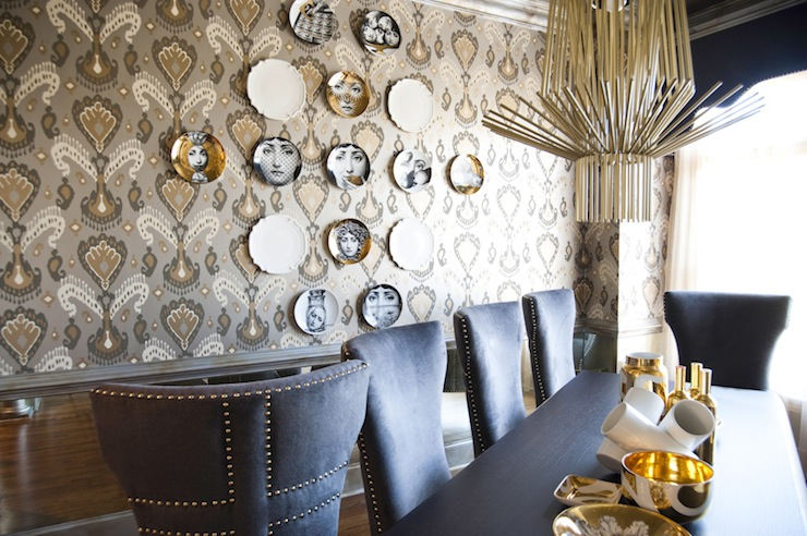 Ikat Wallpaper In Dining Room By Smith Boyd Interiors Part 80