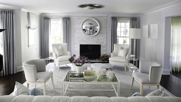 Blue and gray living room contemporary living room morgan harrison home - Grey and blue living room ...