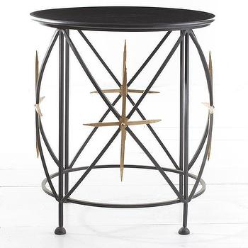 Mid-Century Starlight Table, Black, Wisteria
