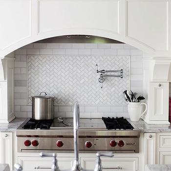 Herringbone Inset Tile Design Ideas