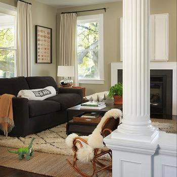 Khaki Paint Color, Contemporary, living room, C2 Vex, Kate Jackson Design