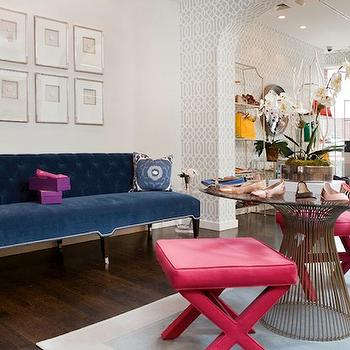 Pink and Blue Living Room, Contemporary, living room, Morgan Harrison Home