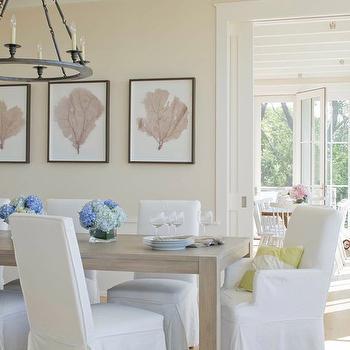 Coastal Dining Room, Transitional, dining room, Benjamin Moore Sail Cloth, Kate Jackson Design