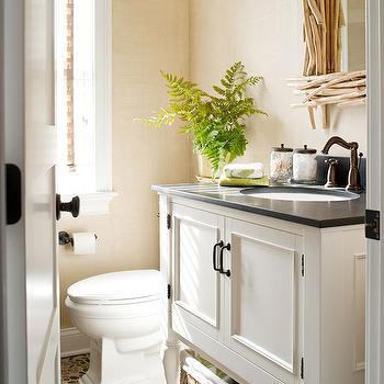 Pebble Bathroom Floor, Cottage, bathroom, BHG