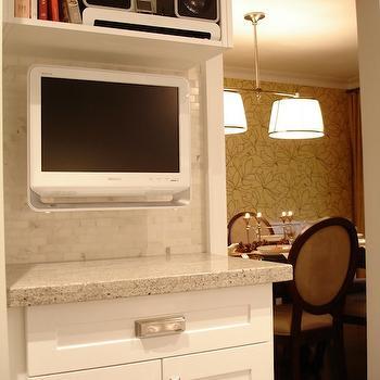 Kashmir White Granite Countertops, Contemporary, kitchen, Rambling Renovators