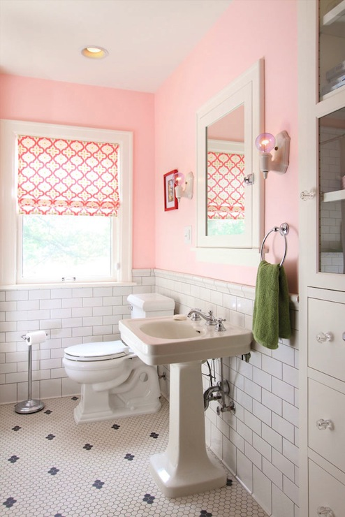 Pink girl 39 s bathroom contemporary bathroom w b builders for Bathroom models photos