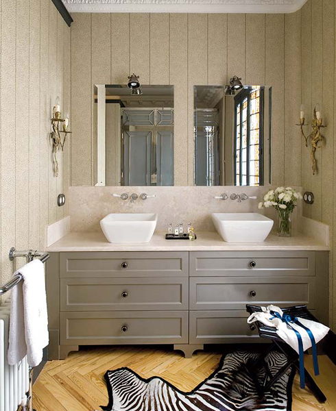 Gray Bathroom Vanity, Contemporary, bathroom, Soledad Suarez