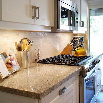 Kashmir White Granite, Contemporary, kitchen, Rambling Renovators