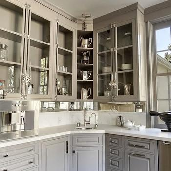 Warm Gray Kitchens Design Ideas - Warm gray cabinets