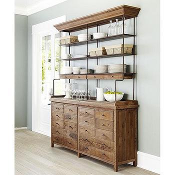 Reclaimed Pine Bookcase, Wisteria