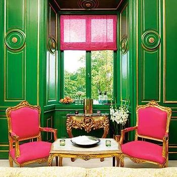 Amazing Pink And Green Room