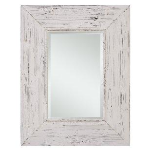 antique white traditional rectangular wall mirror rh decorpad com