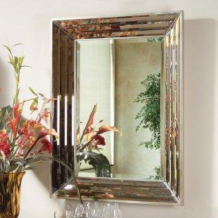 Modern Venetian Rectangle Mirror, Simply Mirrors