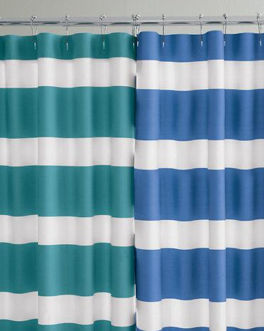 curtains ticking shower stripe barn appealing curtain ruffle pottery and striped