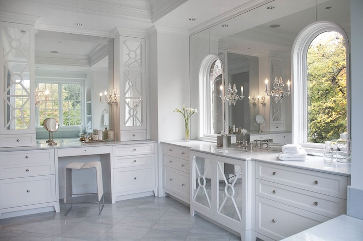 Mirrored Bathroom Vanity & Mirrored Bathroom Vanity - Contemporary - bathroom - Caden Design Group