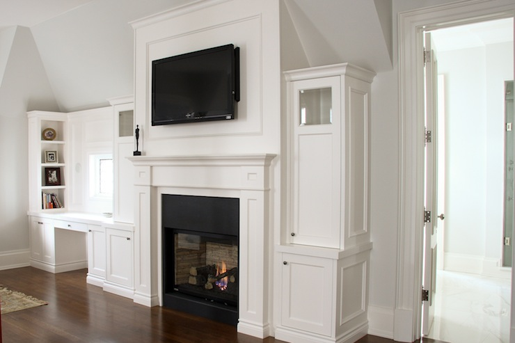 Fireplace Tv Built Ins Traditional Bedroom Designer