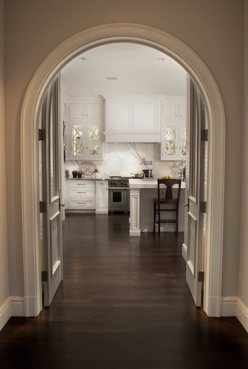 Curved Crown Molding Transitional Kitchen Caden Design Group