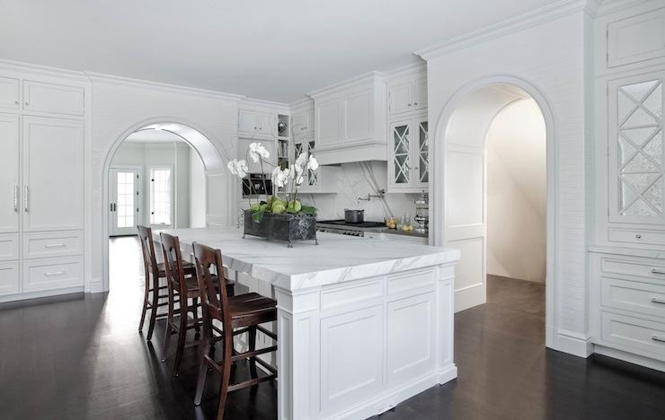 Arched kitchen doorways transitional kitchen caden for Arched kitchen cabinets
