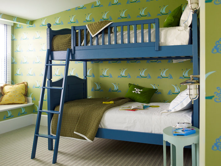 Blue and Green Boy\'s Room - Traditional - boy\'s room - Katie Ridder
