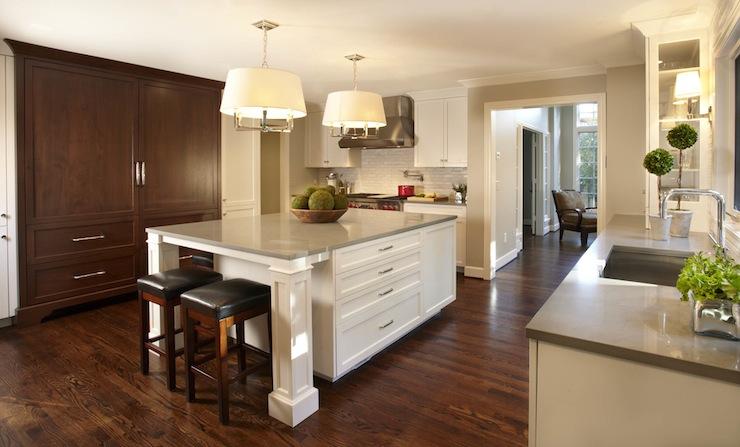 White Cabinets Light Grey Quartz Countertops Design Ideas