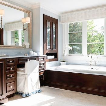 Mahogany Bathroom Cabinets, Traditional, bathroom, Caden Design Group