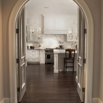 Curved Crown Molding, Transitional, kitchen, Caden Design Group