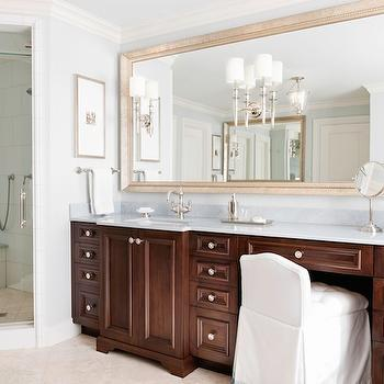 Stained Bathroom Cabinets, Traditional, bathroom, Caden Design Group