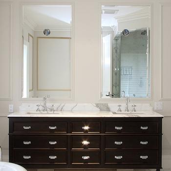 Black Double Vanity, Contemporary, bathroom, Designer Friend