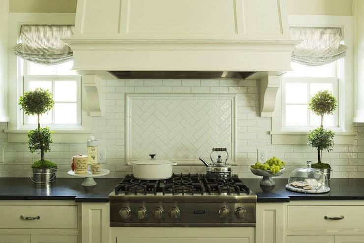 herringbone subway tile transitional kitchen benjamin moore