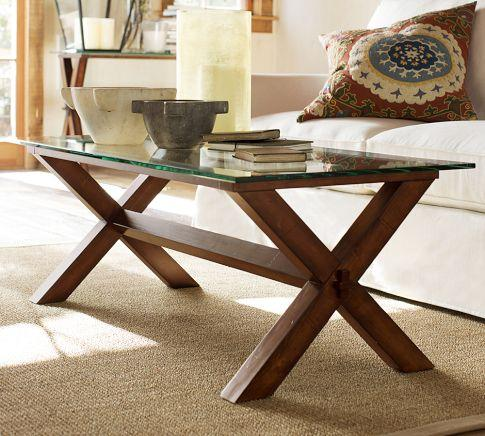Ava Wood Coffee Table Espresso Stain Pottery Barn
