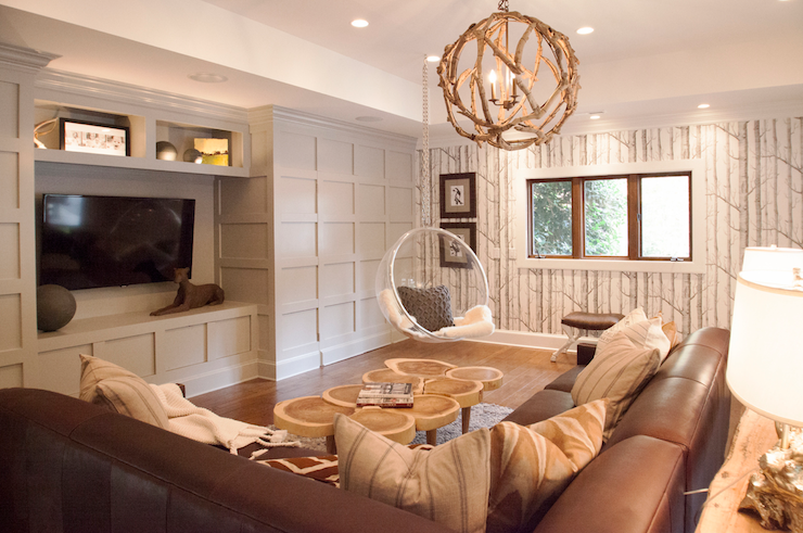 Built in cabinets contemporary living room lucy and company - Rustic chic living room ...