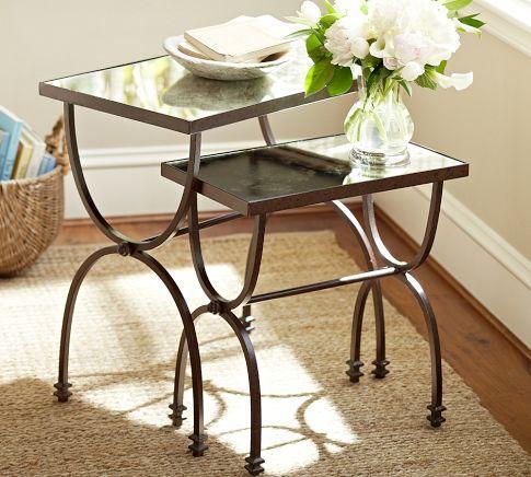 Iron Frame Minimalist Nesting Side Table