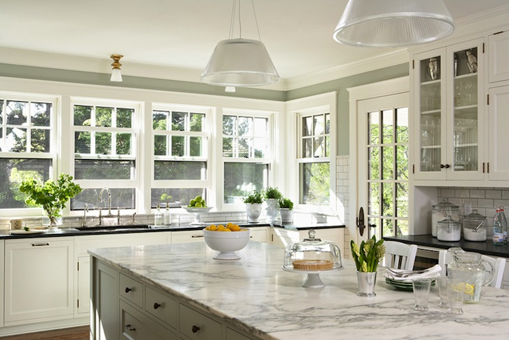 White Kitchen Green Walls sage green kitchen walls design ideas