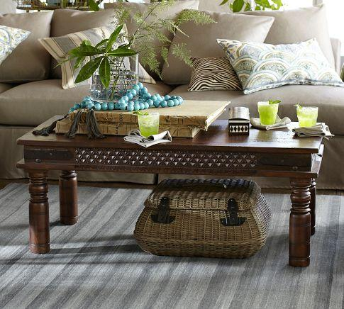 Shanti Coffee Table   Pottery Barn