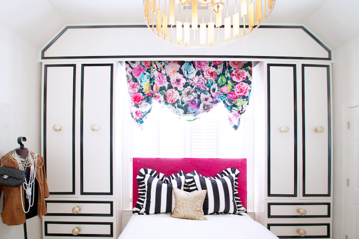 Pink and Black Girl's Bedroom, Modern, girl's room, Lucy and Company
