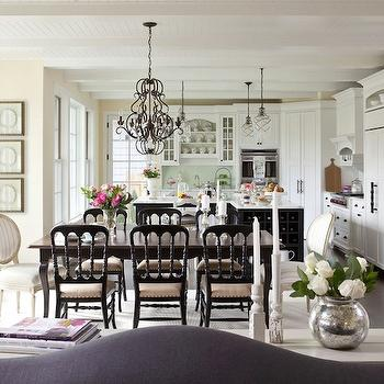 Cottage Dining Room, Cottage, dining room, Benjamin Moore Pale Moon, Martha O'Hara Interiors
