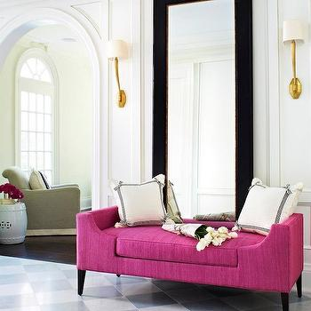 Pink Bench, Contemporary, entrance/foyer, McGill Design Group