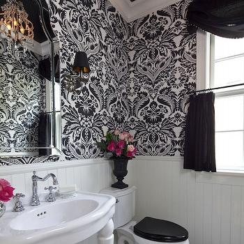 Parisian Pedestal Sink, French, bathroom, Benjamin Moore White Dove, Martha O'Hara Interiors