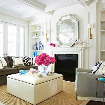 Gray Velvet Sofa, Contemporary, living room, McGill Design Group