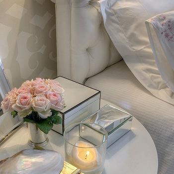 White Velvet Headboard, Transitional, bedroom, Maria Barros