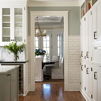 Sage Green Kitchen, Transitional, kitchen, Shannon Gale
