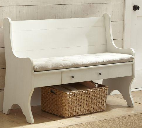 Family Storage Bench Pottery Barn