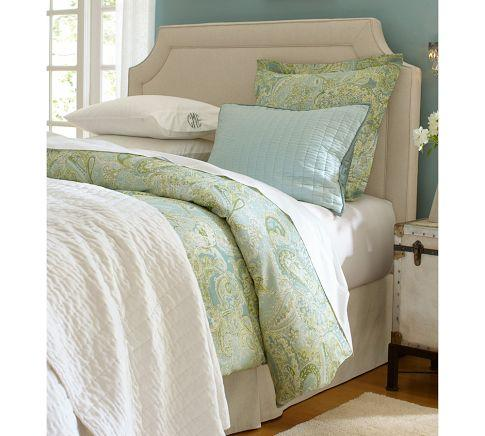 pottery barn upholstered headboard  show home design, Headboard designs